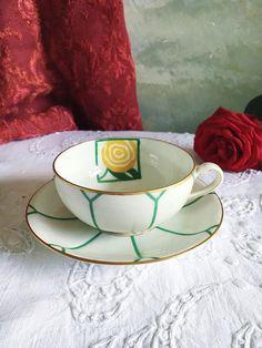 Limoges Art Deco cup