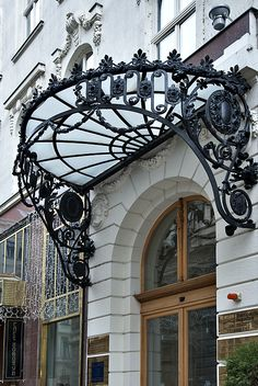 Budapest ornate entry