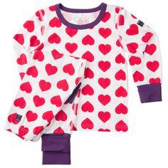 Pyjamas tvådelad hjärtan barn