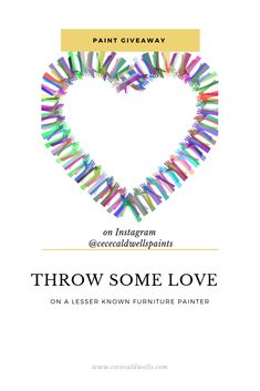 CeCe Caldwell's #SpringLovin2019 giveaway on Instagram through March 30th.  It's time to share your fav lesser know furniture artist with us and you and the artist will be entered in the giveaway.