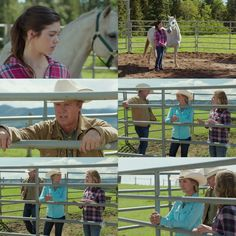 Tim: It was absolutely amazing, Georgie. Great join up. Time to go! Women: I realize miracles don't happen overnight, but can I bring him to your ranch? I have read all about Heartland on-line. Amy: All right. I'll work with him. Women: I'll bring my trailer closer. (10x09)