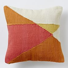 Pillow Covers, Decorative Pillow Covers & Modern Pillows | West Elm   ***  Love how warm these colors are, will really brighten up the sofa, depends of course on rug choice