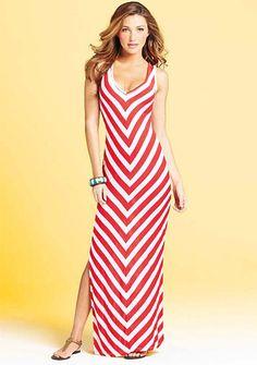 Alloy Kimmy Chevron-Stripe Maxi Dress