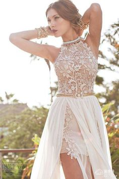 33fdea0796 Long Dresses · Boho Beach Wedding Dress