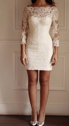 White Homecoming Dresses,Lace Homecoming Dresses,Lace Wedding Dresses,Off the Shoulder Homecoming Dresses,Long Sleeves Dresses for from LaviDress White Homecoming Dresses Short, Prom Dresses For Teens, Prom Dresses With Sleeves, Short Prom, Courthouse Wedding Dress, Civil Wedding Dresses, Dress Wedding, Wedding Reception, Dress Prom