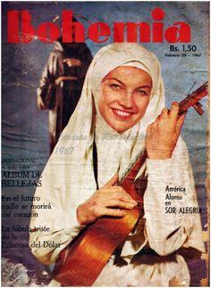 Portada de la revista Bohemia con la actriz America Alonso en un papel inolvidable como Sor Alegria,años 60s