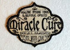Miracle Cure Iron on Patch by GerriTullis on  Etsy