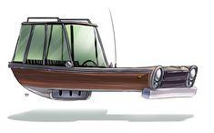 Conceitos automobilísticos no estilo retrô futurístico