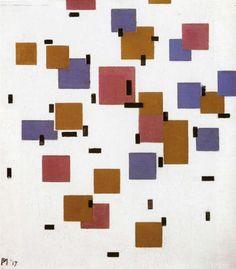 artpedia:    Piet Mondrian - Composition in Color A, 1917. Oil on canvas.