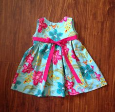 Girls Pleated Dress by hollyhockclothing on Etsy