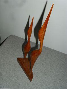 reiher vogel holz figur teak? 50er 60er in zürich kaufen bei ... - Designer Holzmobel Skulptur