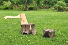 hongtao zhou: two stumps + an axe lounge chair
