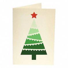 Charité cartes de Noël Woodland Animaux autour Arbre de Noel-Pack de 5