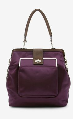 Lanvin Purple And Brown Shoulder Bag