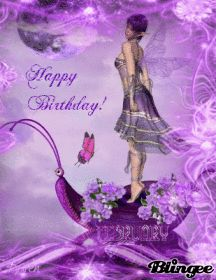 Purple Fairy GIF | Happy Birthday ~ Purple Fairy Animated Pictures for ...
