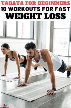 Tabata For Beginners – 10 Workouts For Fast Weight Loss Hiit, Tabata Workouts At Home, Toning Workouts, Quick Workouts, Tabata For Beginners, Workout Aesthetic, Fitness Aesthetic, High Intensity Cardio, Fat Burning Cardio