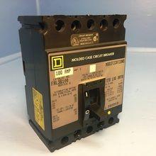 Square D FAL36100 100A Circuit Breaker 600V MC 3 Pole Type FAL-36100 S2 100 Amp (EM1654-1)