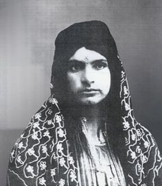 """The haunting portrait of an Armenia woman with tattoos on her face, indicates that she was 'owned' by someone as a forced wife and sex-slave during the years of the Armenian Genocide. Image: AGMI."""
