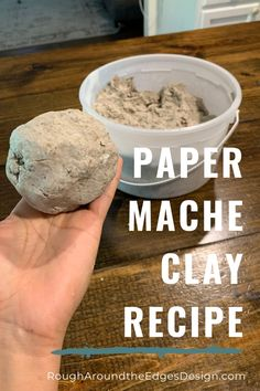 Paper mache clay recipe - Paper Mache and Concrete Home Decor - So let's cut to the chase. Here is paper mache clay recipe that is super easy to make . Its pliab - Paper Mache Diy, Paper Mache Paste, Making Paper Mache, Paper Mache Projects, Paper Mache Sculpture, Clay Projects, Clay Crafts, Diy Paper, Paper Mache Crafts For Kids