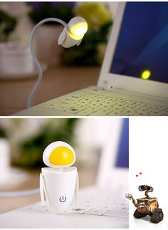 Creative Robot Design LED Night Light Adjustable Brightness-9.27 and Free Shipping