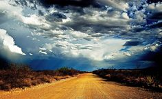"""High Lonesome Road by Eric Vondy, via Flickr. """" Its called High Lonesome Road and it runs north from the Mexican Border until it eventually turns into a 4X4 road.It starts east of Bisbee, Arizona and ends somewhere around the ghosttown of Gleeson."""""""