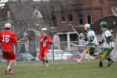 Cardinal Lacrosse in action! SVSU vs. Wayne State 2013