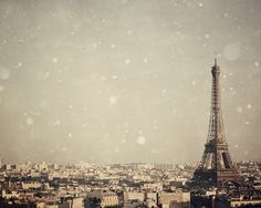 Paris photo  Eiffel Tower Paris in Winter by EyePoetryPhotography