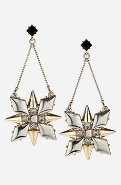Topshop 'Stud Flower' Drop Earrings | Nordstrom