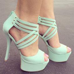 Strappy Platform Heels