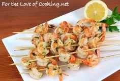 garlic and herb shrimp skewers