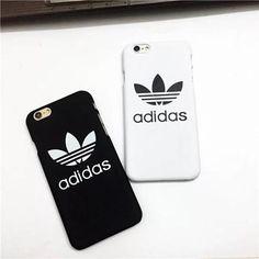 Adidas iPhone7/SE/6S ケース お揃い ペア アップル 人気 ハードケース アディダス アイフォン5Sケース 白 黒 メンズ レディース