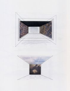 Gerhard Richter, Räume (Rooms) 1971, 51.7 cm x 66.7 cm