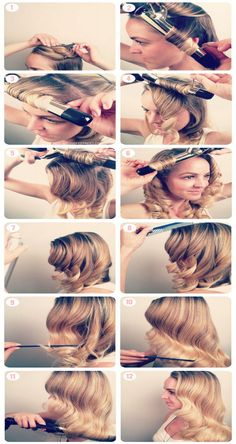 Vintage Curls Tutorial , love the sixties style ! Can't get enough? Check my page for tips and tricks! L o v e