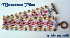 Beaded Moroccan Tiles Bracelet Pattern from Julie Ann Smith Designs at Sova-Enterprises.com