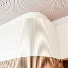 Commercial Interior Design, Commercial Interiors, Wall Cladding Designs, Knotty Pine Doors, Joinery Details, Curved Walls, Ceiling Detail, Wall Finishes, Interior Walls
