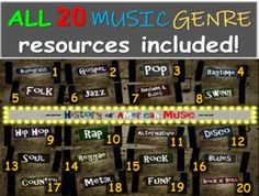 Genre Lessons, Music Lessons, Slideshow Presentation, Parliament Funkadelic, First Day Of School Activities, The Yardbirds, The Stooges, The Kinks, Music Genre
