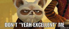 Master Shifu hates Po's enthusiasm and that he won't quit - Kung Fu Panda Master Shifu, Kung Fu Panda, Owl, Fandoms, Bird, Disney, Happy, Animals, Animales