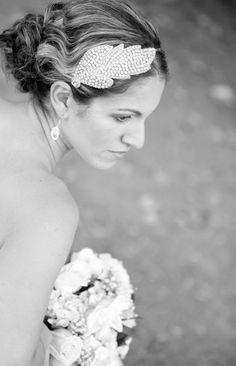 wedding bridal headband Miss Cara silver par gadegaarddesign, $79,00