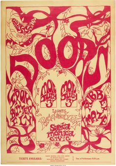 Doors/Iron Butterfly Santa Monica Civic Center Concert Poster (Gad Fly, 1967). Very Rare. Original poster printed on index stock, art by Michele, for a July 3 concert at the Santa Monica Civic Center, with support from Rubber Maze.