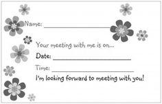Cute reminder for Parent/teacher conferences