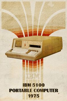 IBM 5100 - Retro Poster by Vespertin.