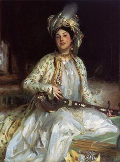 John Singer Sargent (American 1856–1925) [Portraiture] Portrait of Almina Daughter of Asher Wertheimer, 1908. Tate Britain, London.