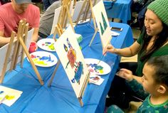 Play & learn for little ones: Storytimes, dance parties & family painting parties