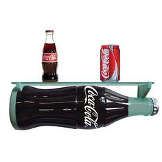 Coca-Cola Bottle-Shaped Wall Shelf