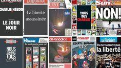 Los principales diarios del mundo dedicaron sus tapas al atentado en París
