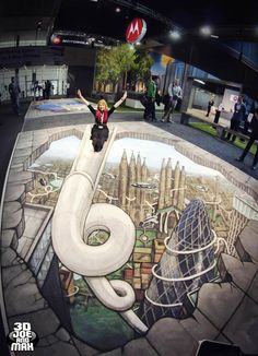 A selection of beautiful creations of 3D Joe and Max, between anamorphosis, illusion and 3D street art! Sadly, Max Lowy had died in 2010, but Joe Hill now co