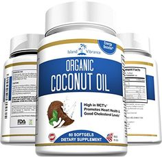 Organic Coconut Oil Capsules - 1000mg Extra Virgin Softgels - Great for Hair Growth and Moisturizes Skin - Promotes Healthy Metabolic Energy and Natural Weight Loss - Premium Grade Dietary Supplement - Proudly Made in USA and 3rd Party Lab Certified >>> Want additional info? Click on the image.