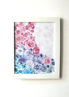 Watercolor Flowers PRINTABLE Art Nursery Art by AnnaMariaLocke