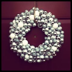 DIY Christmas wreath- could make mini ones with shiny beads for ornaments :)