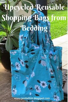 Four years ago now, I made my first set of shopping bags from an old sheet that we never used. I used them every week for my food shopp...